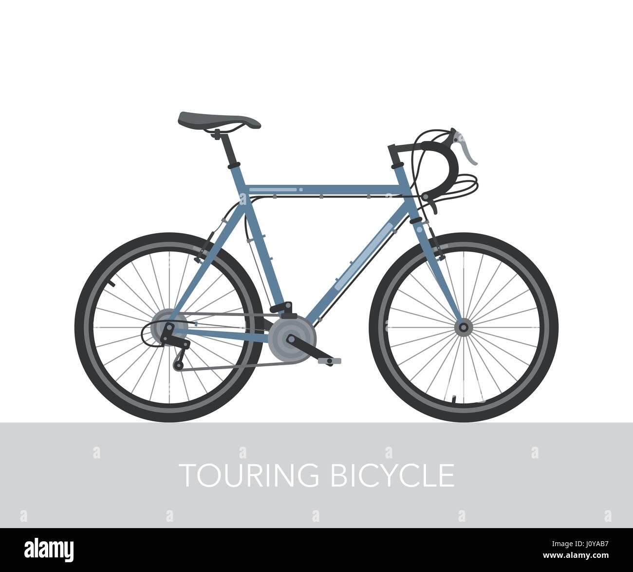 Konfiguration der Stadt, auf Tournee oder trekking Fahrrad. Fahrrad ...