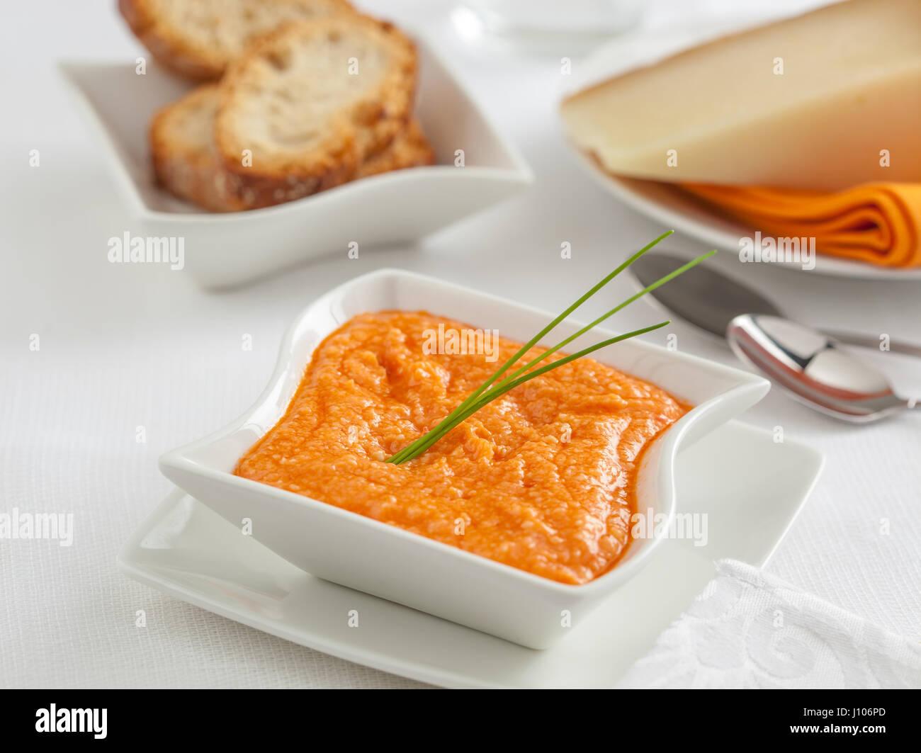 ALMOGROTE, eine typischen Sauce bilden die Kanarischen Inseln, Spanien Stockbild