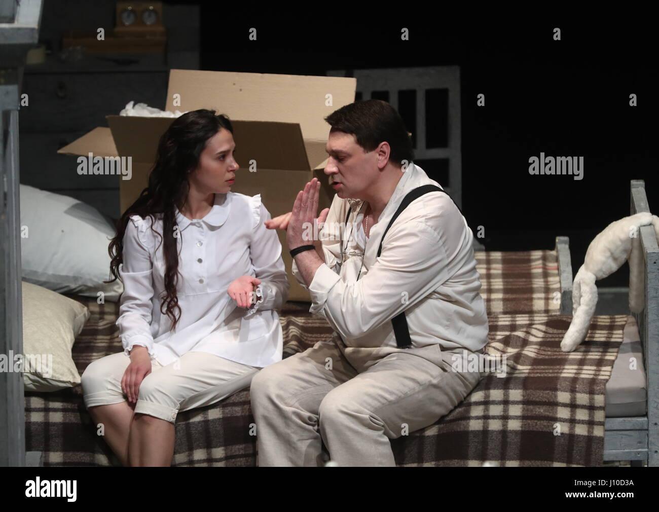 Moskau, Russland - 16. April 2017: Schauspielerin Linda ...