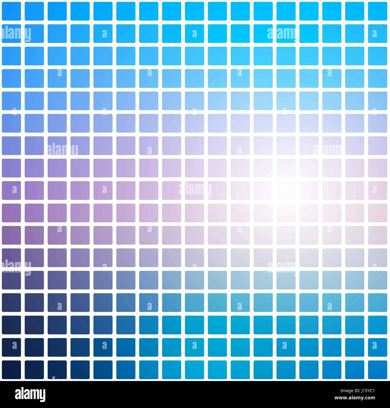 Blautone Rosa Vektor Abstrakte Abgerundeten Ecken Fliesen Mosaik