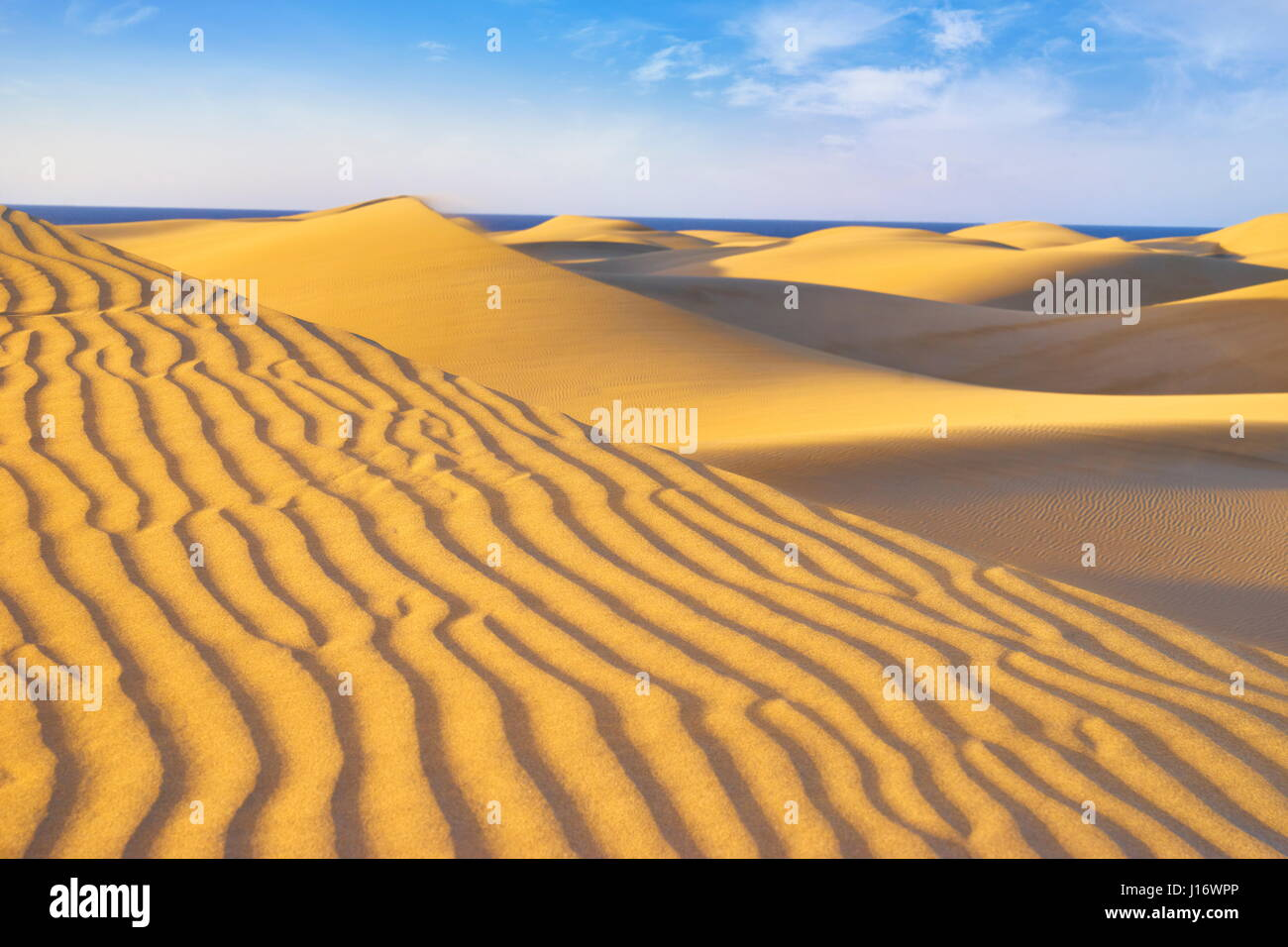 Kanarische Inseln, Gran Canaria, Playa del Ingles, Maspalomas Sand Dunes National Park, Spanien Stockbild