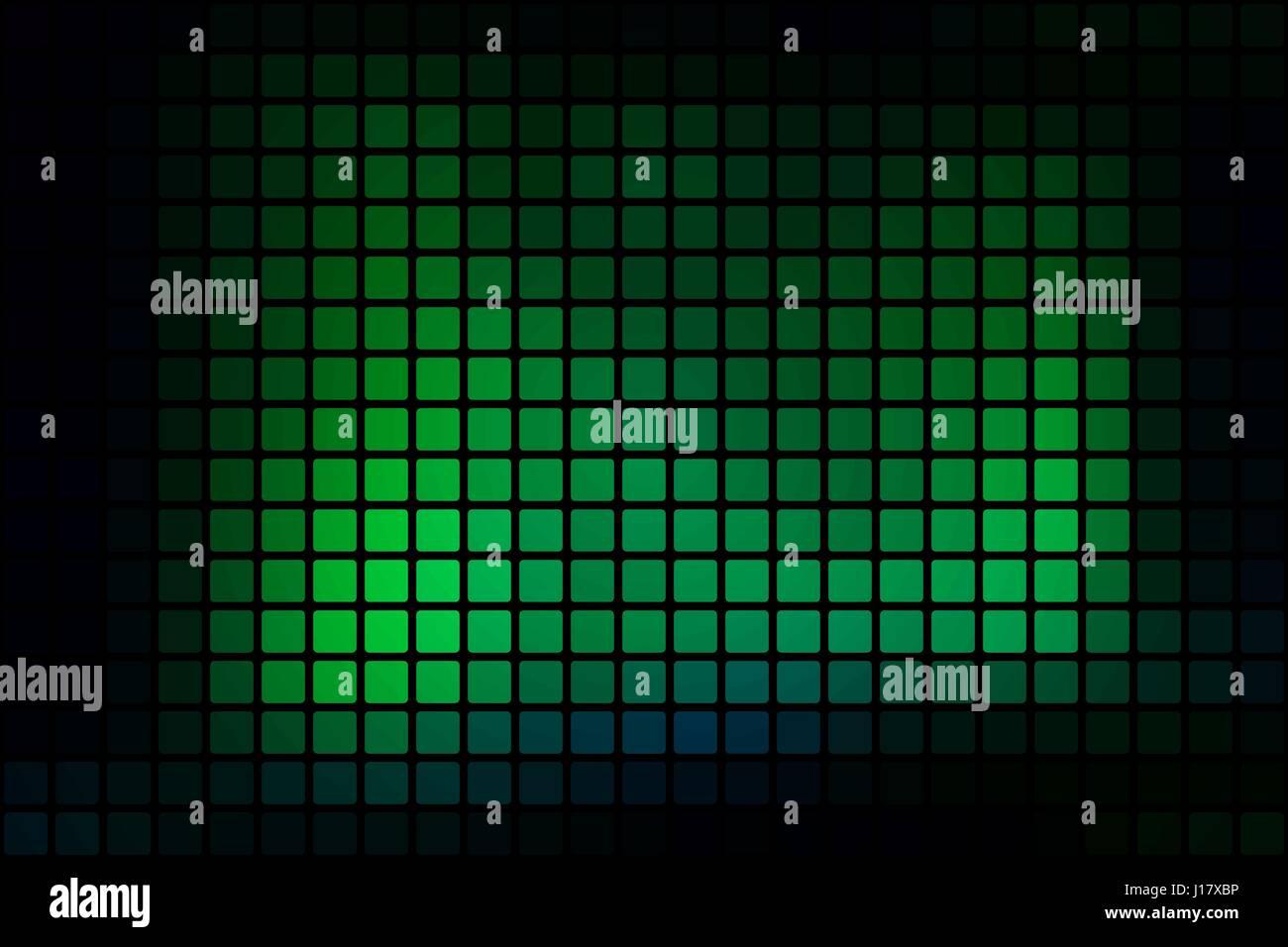 Leuchtende Neon Grune Vektor Abstrakte Mosaik Hintergrund Mit