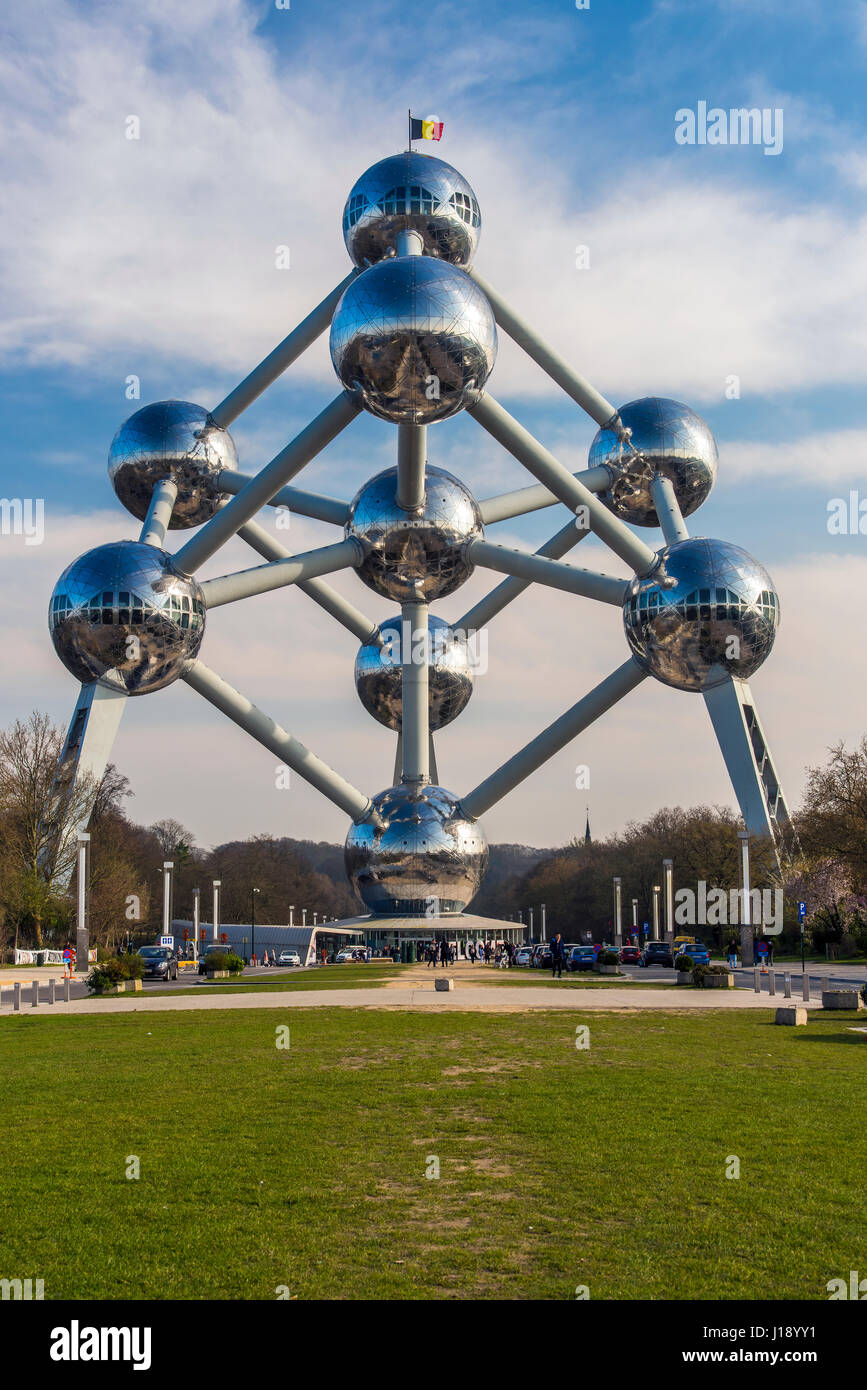 Atomium Gebäude ursprünglich gebaut für die Expo 58 in Brüssel, Belgien Stockbild