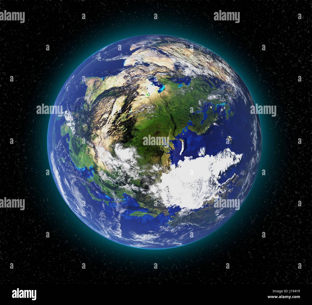 Hohe aufl sung planet erde aus dem weltall in 3d elemente for Bodentypen der erde