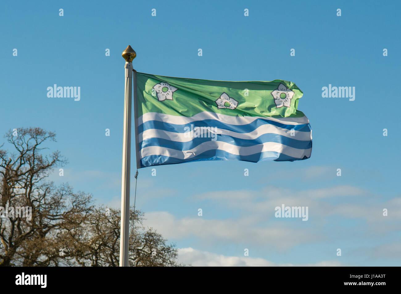 Cumberland-Flagge Stockbild