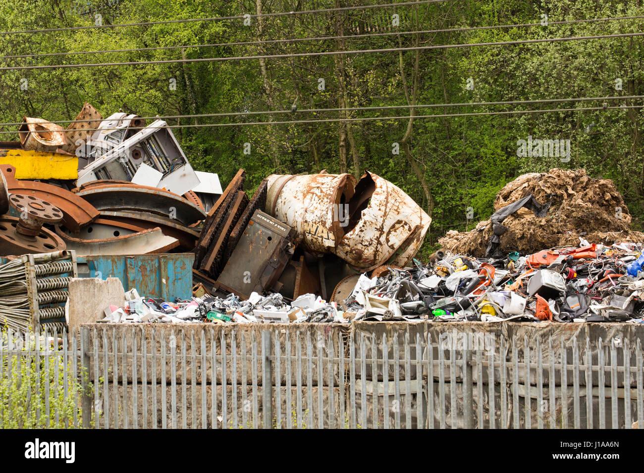 Schrott-Metall-Yard Stockfoto