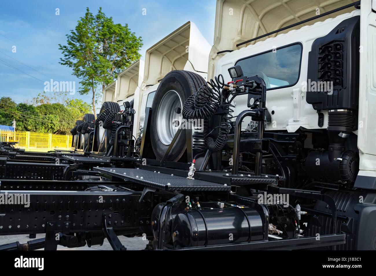 big rig american semi trailer stockfotos big rig. Black Bedroom Furniture Sets. Home Design Ideas