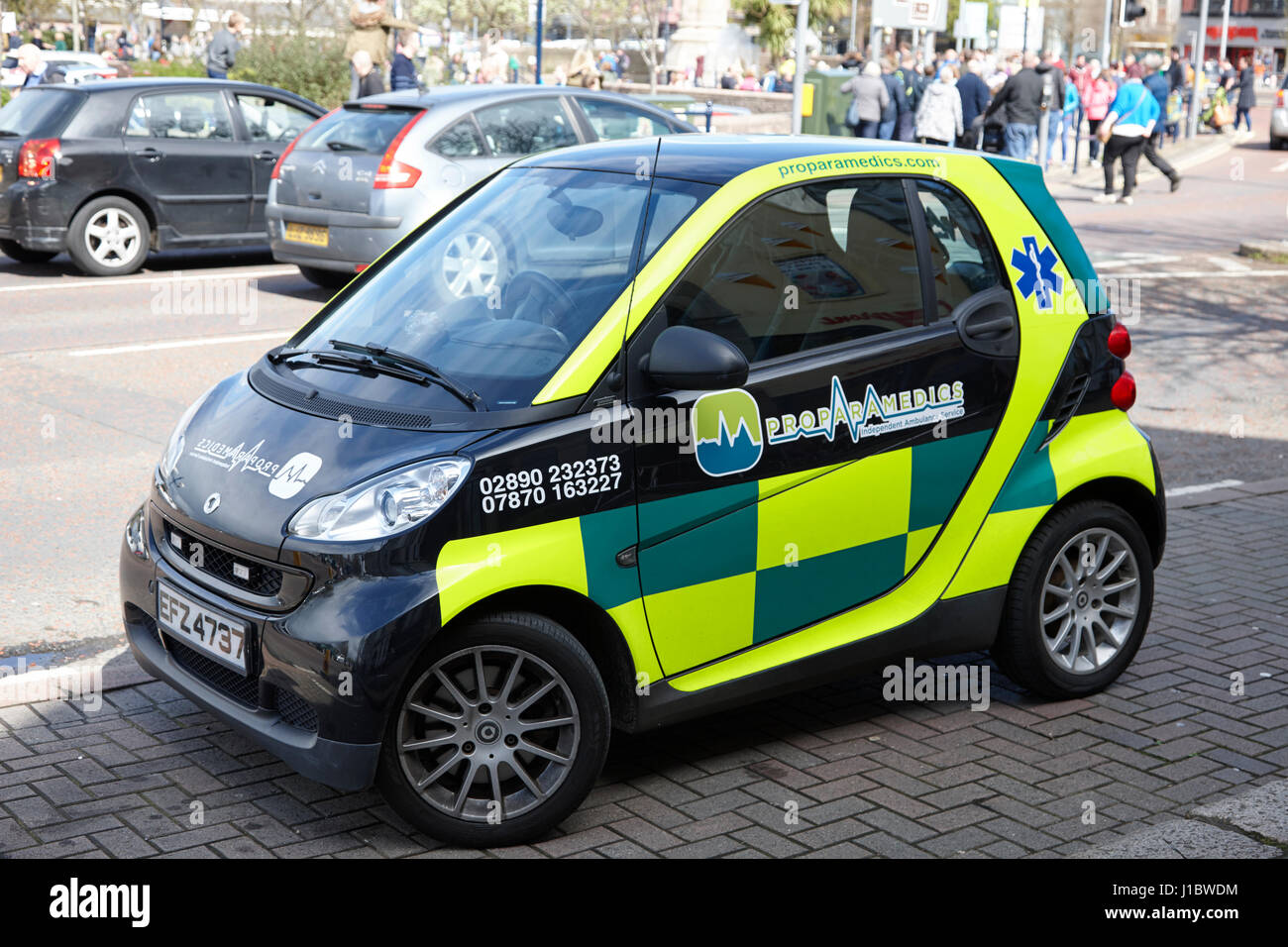 Smart Gebrauchtwagen von privaten Sanitäter Unternehmen im Vereinigten Königreich Stockbild