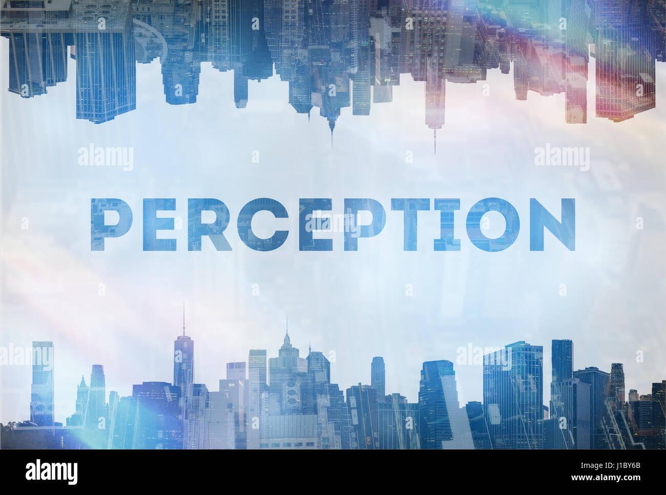 Wahrnehmung-Konzept-Bild Stockbild