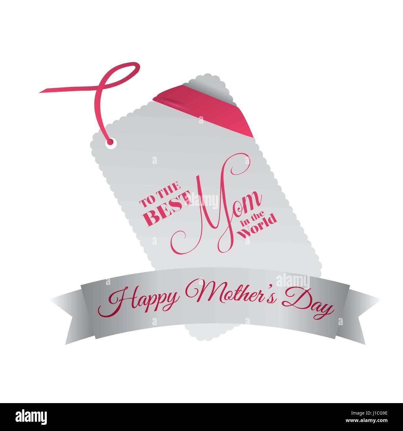 Beste Mama Der Welt Glücklichen Mütter Tag Feier Vektor Abbildung