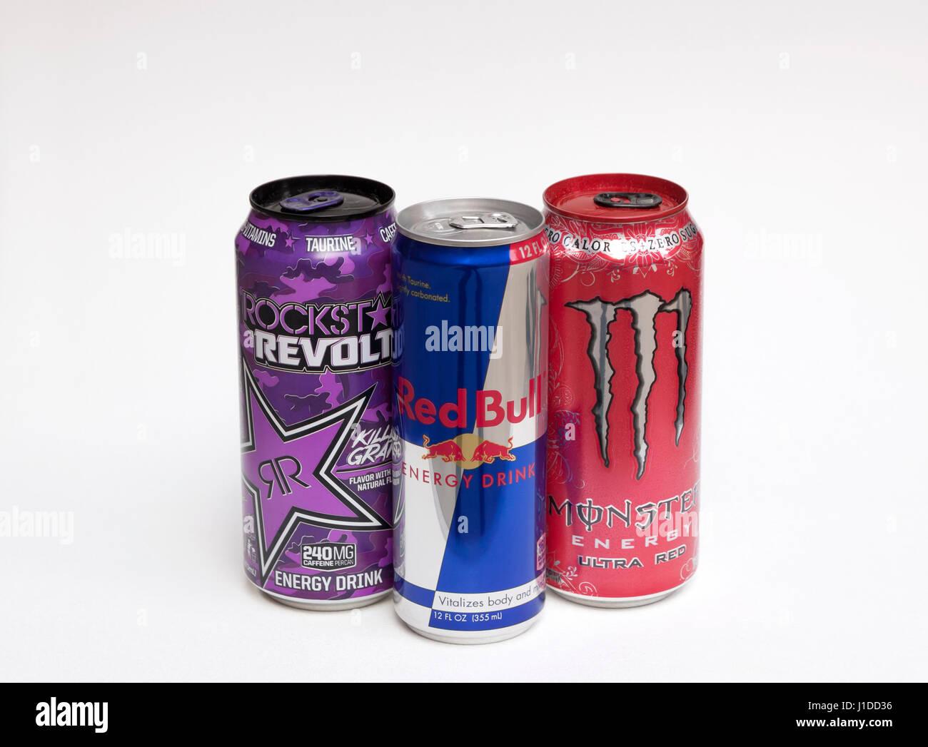 Meistverkaufte Energie Getränke in den Vereinigten Staaten: Red Bull ...