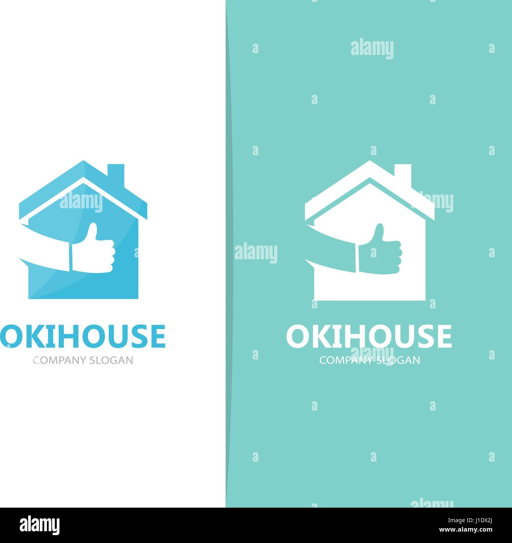 Vektor der Immobilien und wie Logo-Kombination. Haus und beste ...