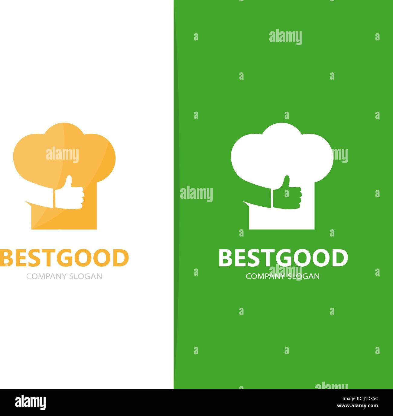 Vektor der Koch Hut und wie Logo-Kombination. Küche und beste Symbol ...