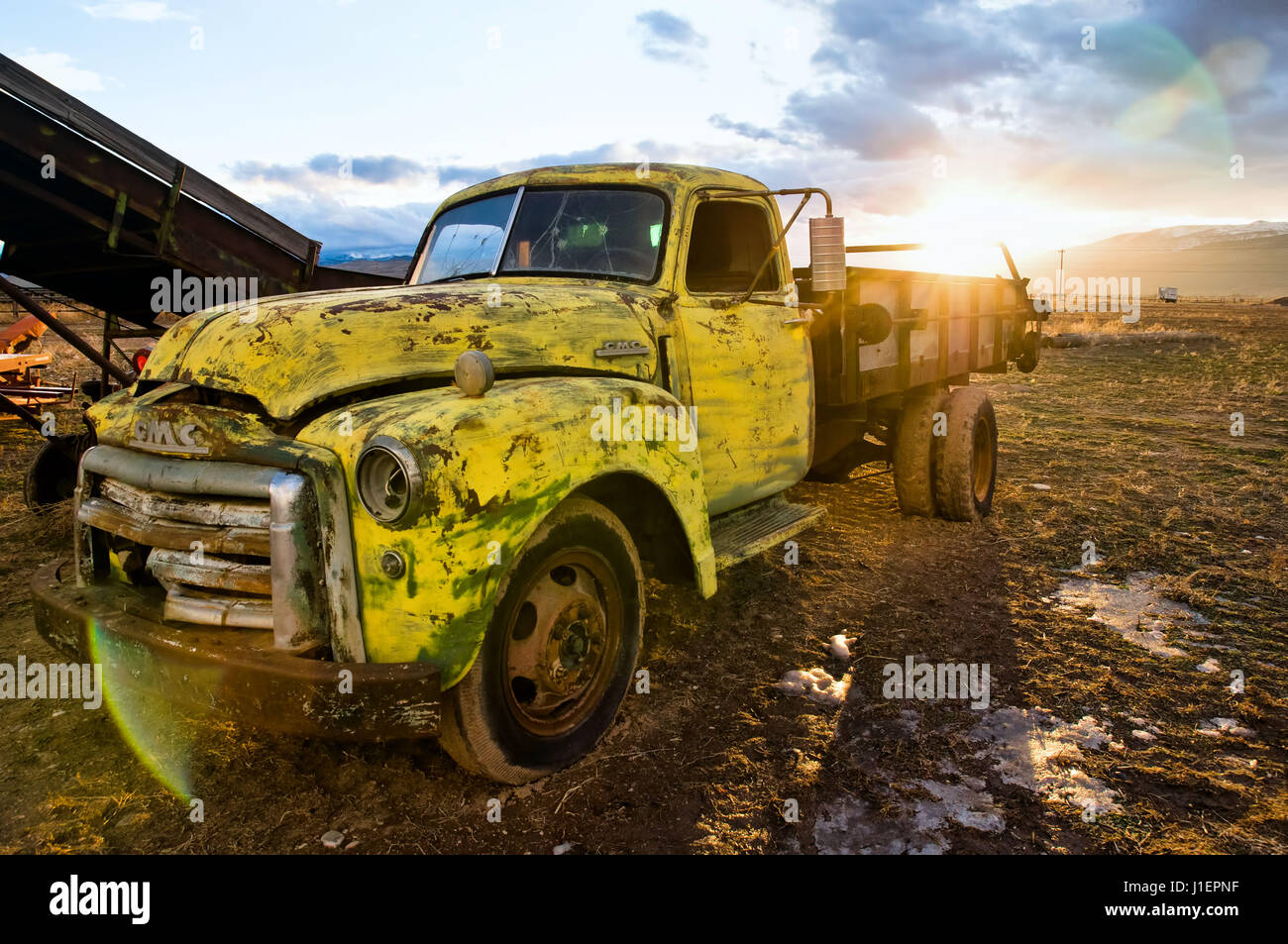 Vintage GMC Truck. Stockfoto