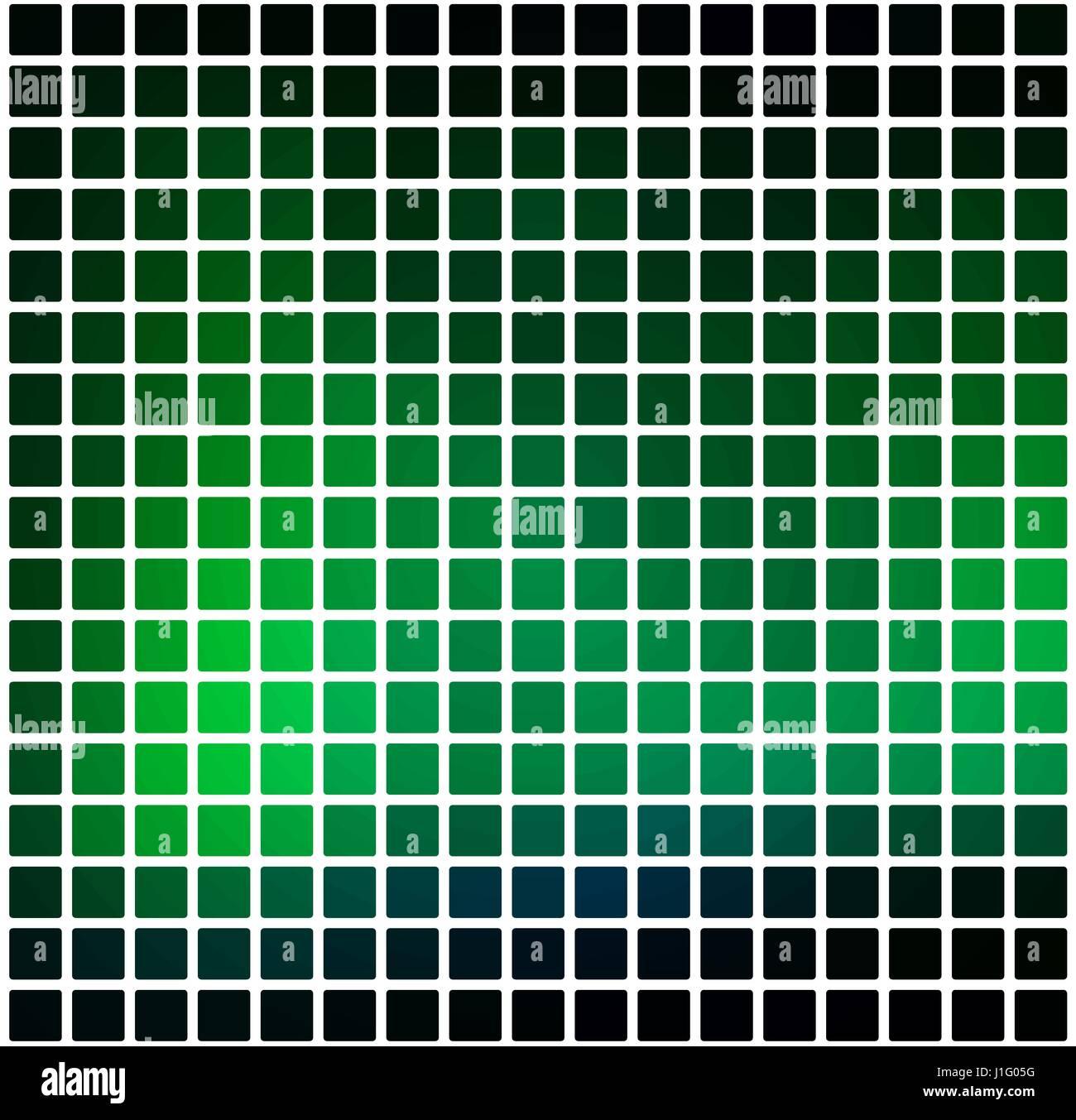 Leuchtende Neon Grun Vektor Abstrakt Abgerundete Ecken Fliesen