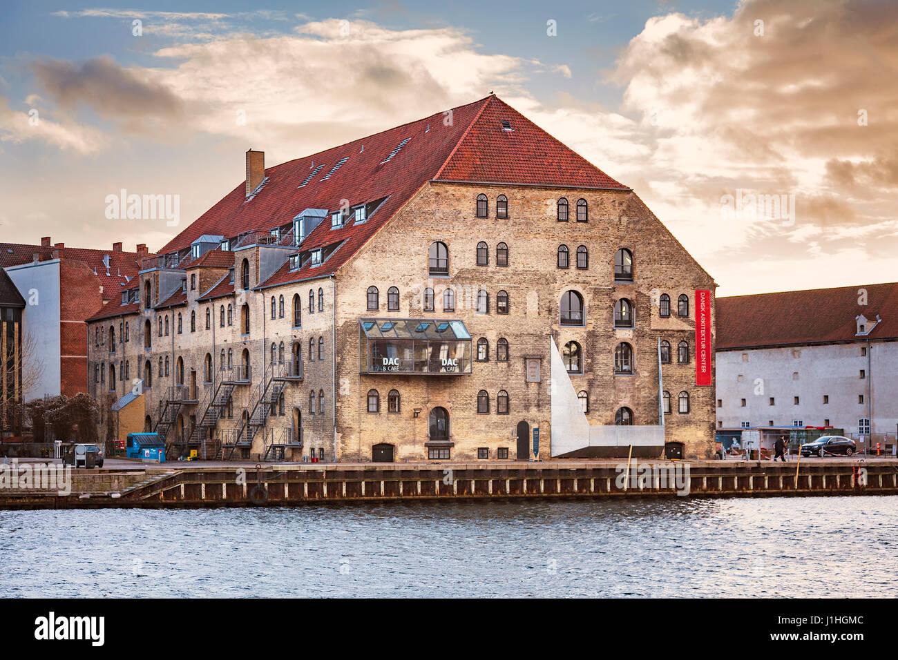 KOPENHAGEN, DÄNEMARK - 24. DEZEMBER 2016. Das dänische Architektur-Zentrum, das in einem restaurierten Stockbild