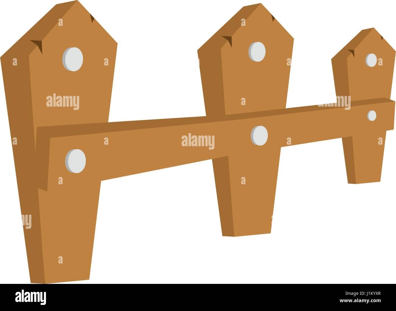 Isolierte Holz Zaun Design Vektor Abbildung Bild 138736607 Alamy