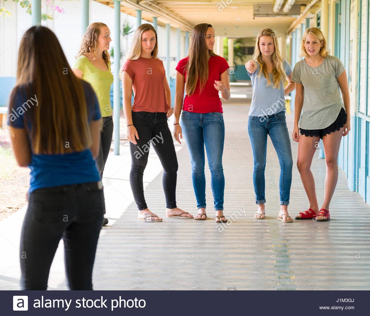 High-school-mädchen aus