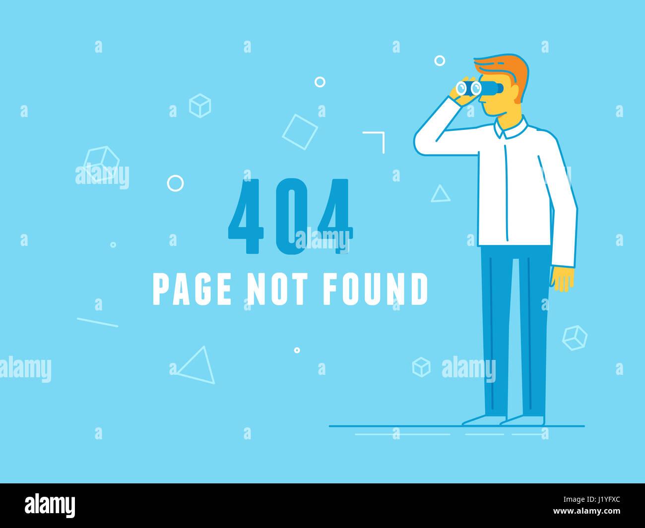 404 Error Page Template Illustration Stockfotos & 404 Error Page ...
