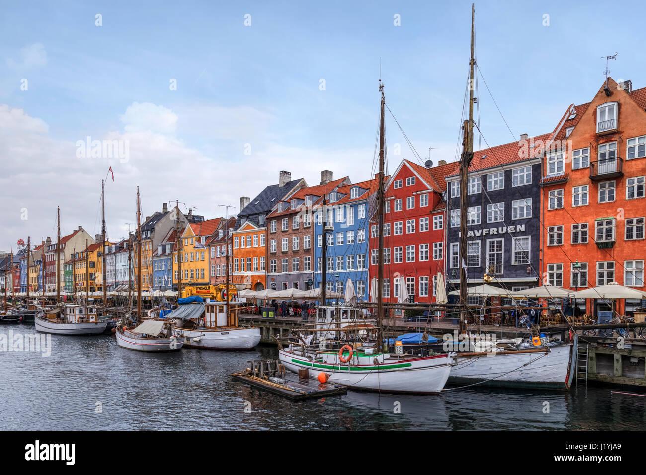 Nyhavn, Kopenhagen, Dänemark, Scandinavia Stockfoto