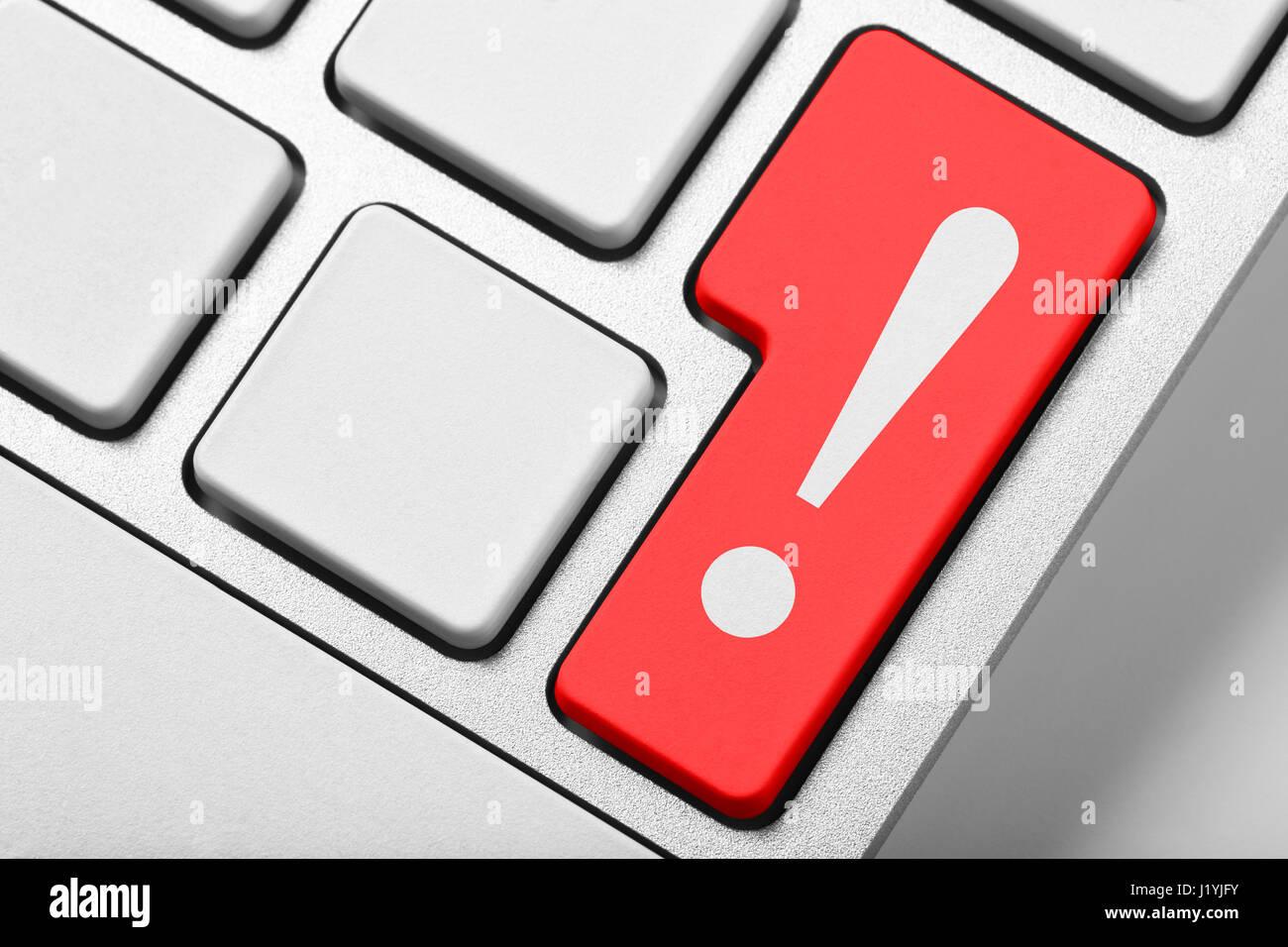 Ausrufezeichen Tastatur Stockbild