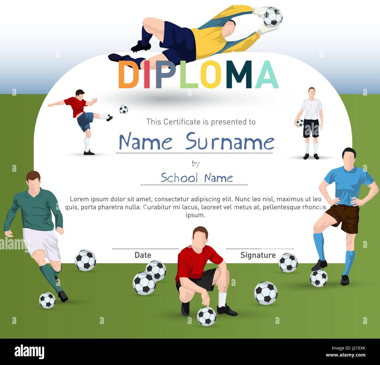 Football Design Vector Background Art Stockfotos & Football Design ...