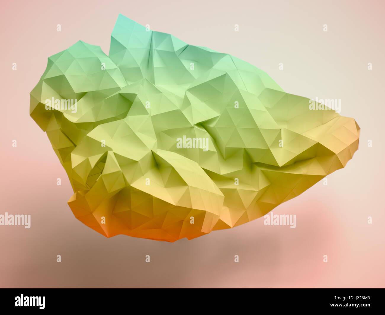 Poly-Dreiecke-Struktur-Papier-Modell Stockbild
