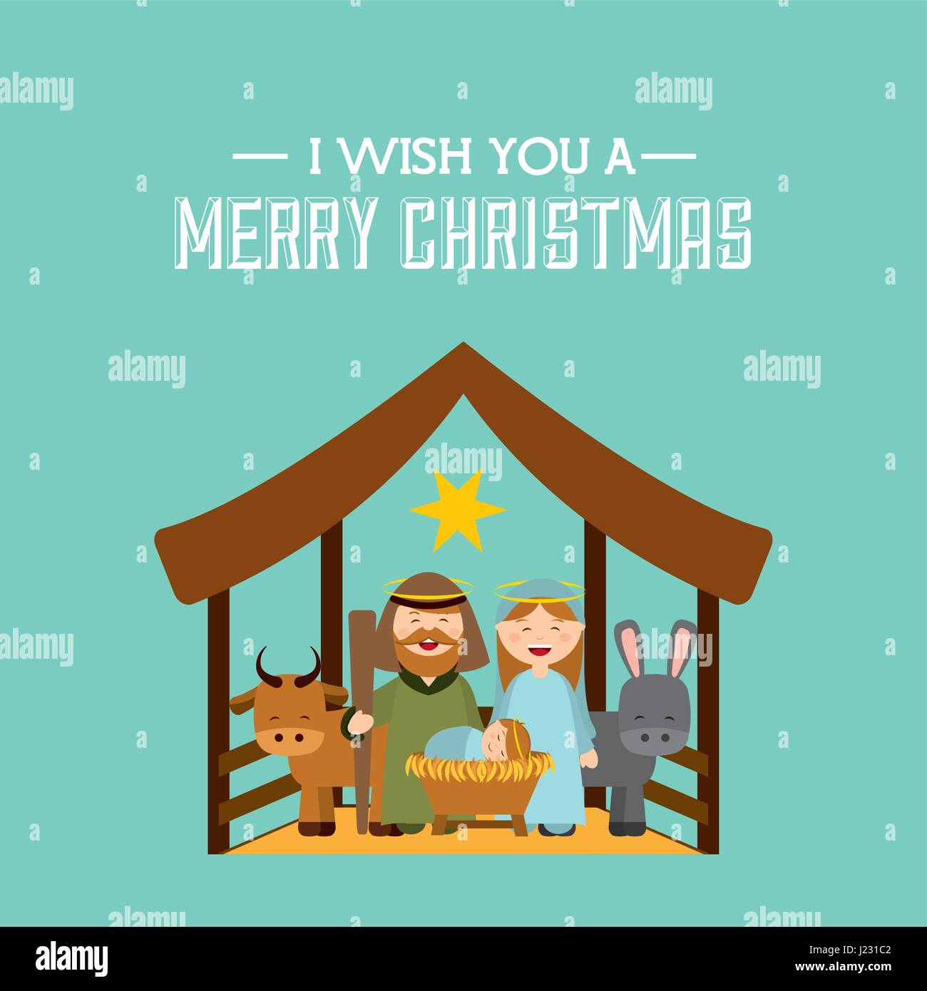 glücklich Frohe Weihnachten Karte Vektor Abbildung - Bild: 138979234 ...