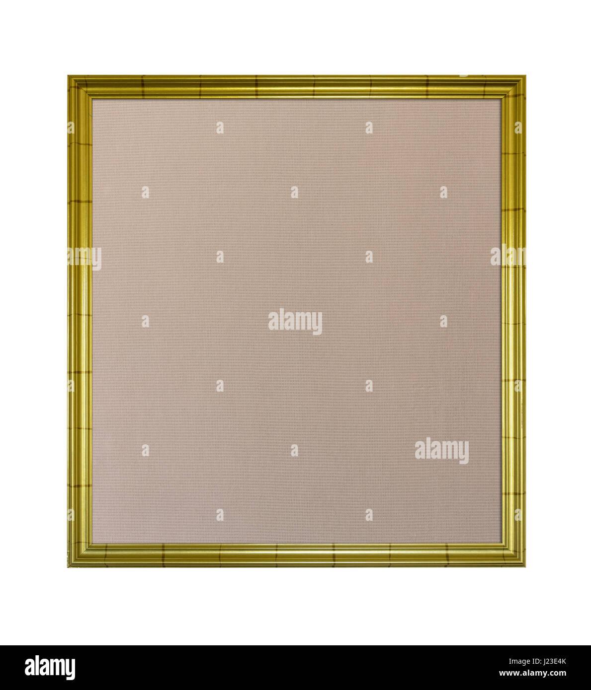 Bilderrahmen in Gold mit Pinnwand Pinwand Interieur Stockbild