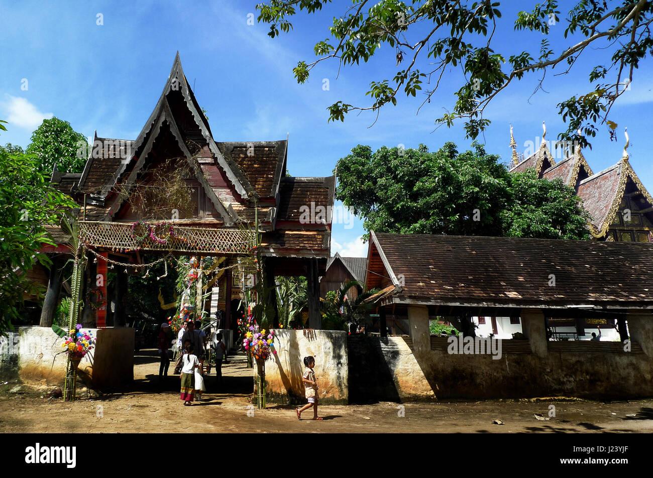 Chiang Mai, Thailand - 13. Oktober 2009: nach Ende der buddhistischen Fastenzeit, die Leute von Mae Chaem, harmonisch Stockbild
