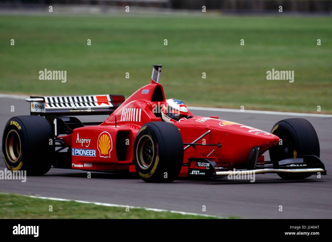 F1 Ferrari Michael Schumacher British Gp Silverstone 1996 Stockfotografie Alamy