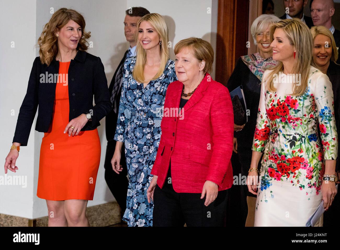 Berlin, Deutschland. 25. April 2017. Ivanka Trump, Tochter und ...