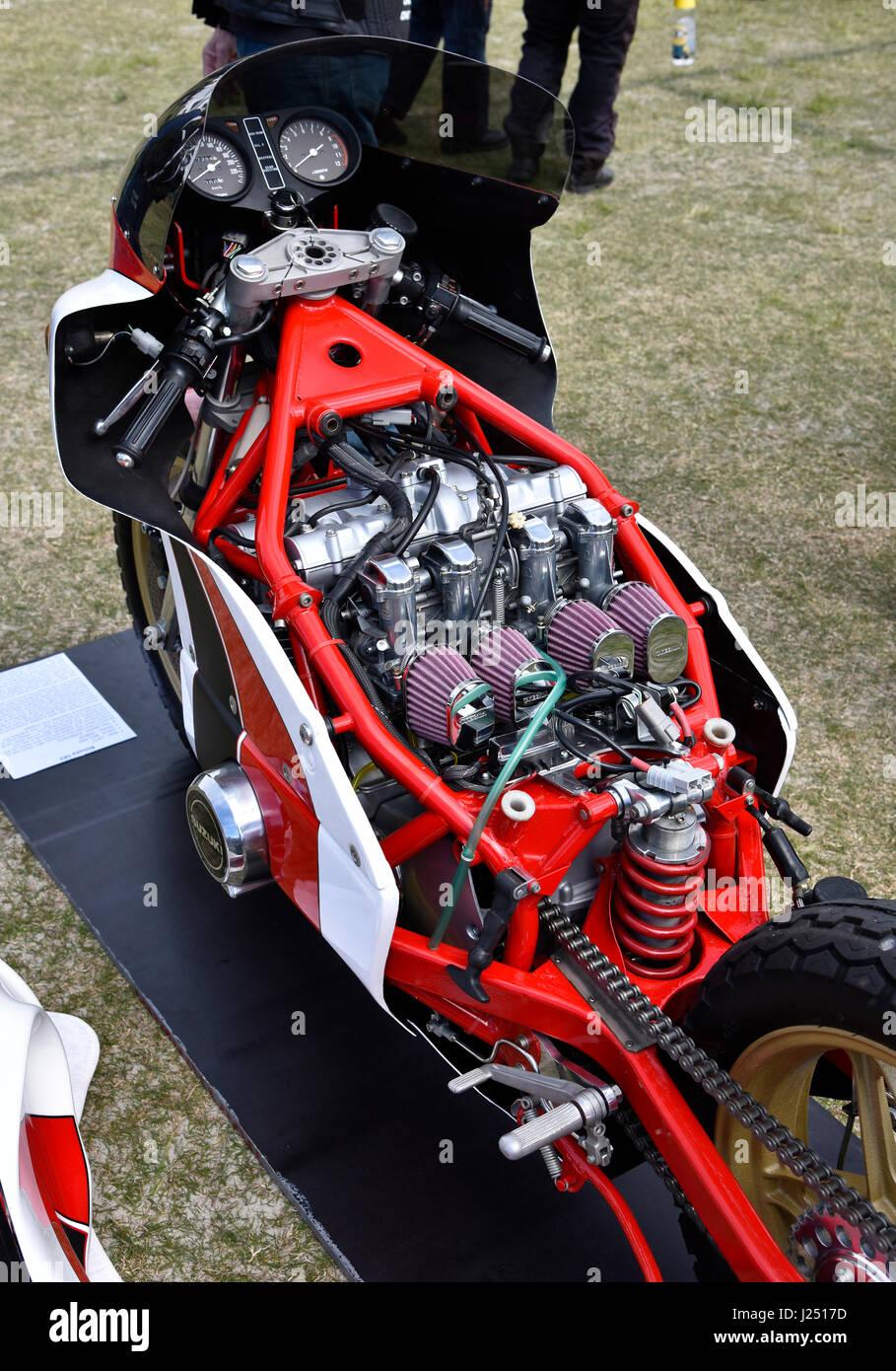 Bimota SB2 Motorrad mit 750 Suzuki Motor in benutzerdefinierten ...