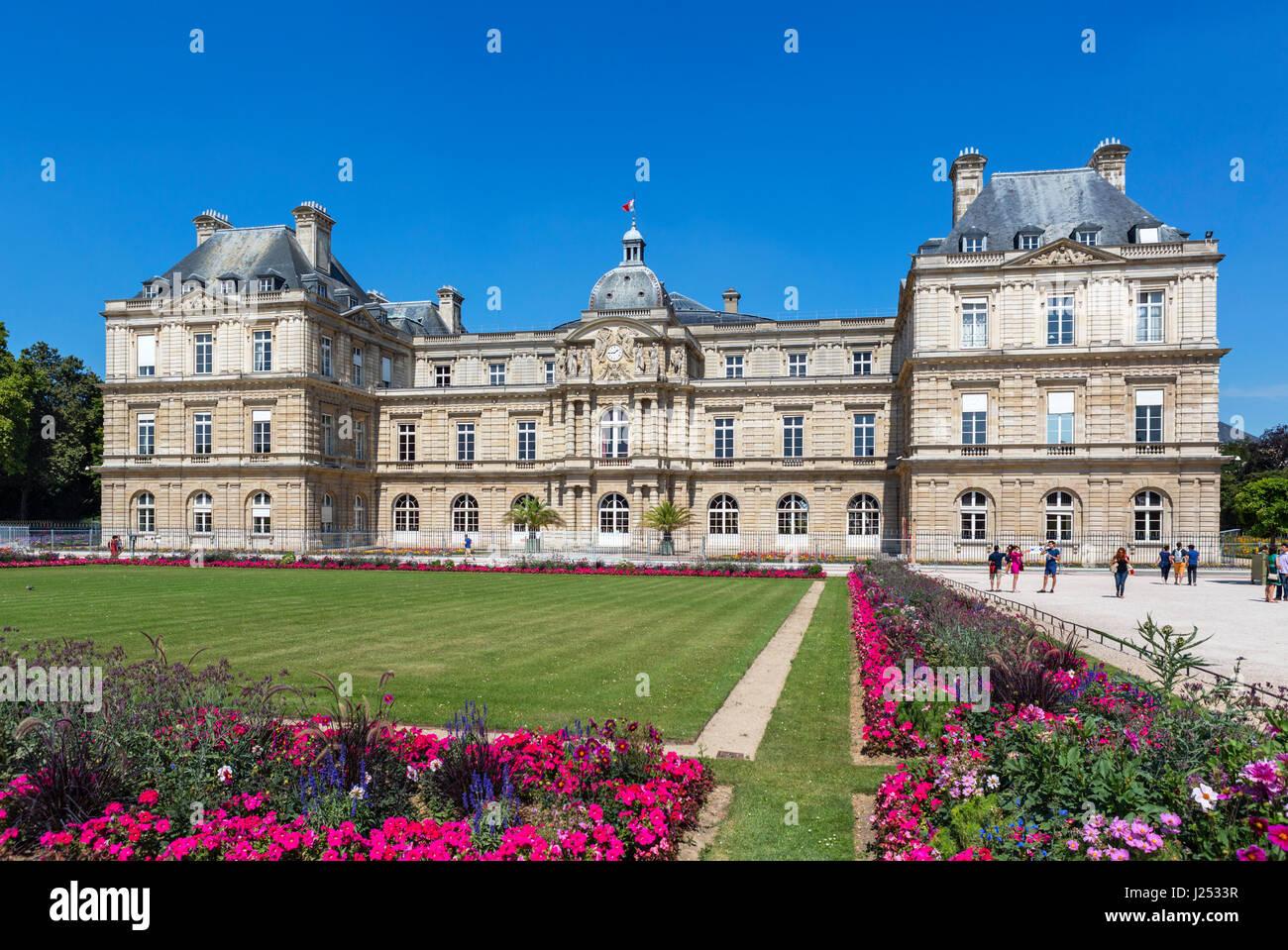 Das Palais du Luxembourg (Palais du Luxembourg), Jardin du Luxembourg (Jardin du Luxembourg), Paris, Frankreich Stockbild