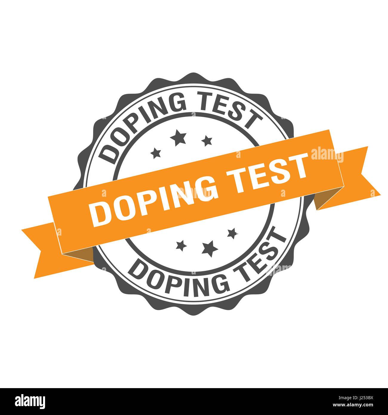 Doping-Test Stempel Abbildung Stockbild