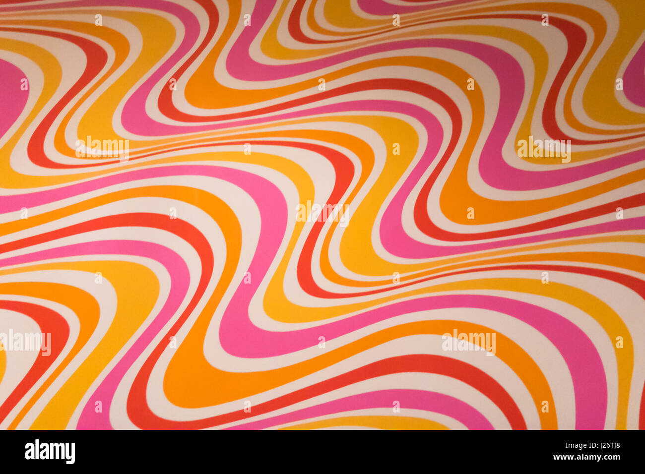 Seventies wallpaper stockfotos seventies wallpaper for Tapete gelb muster