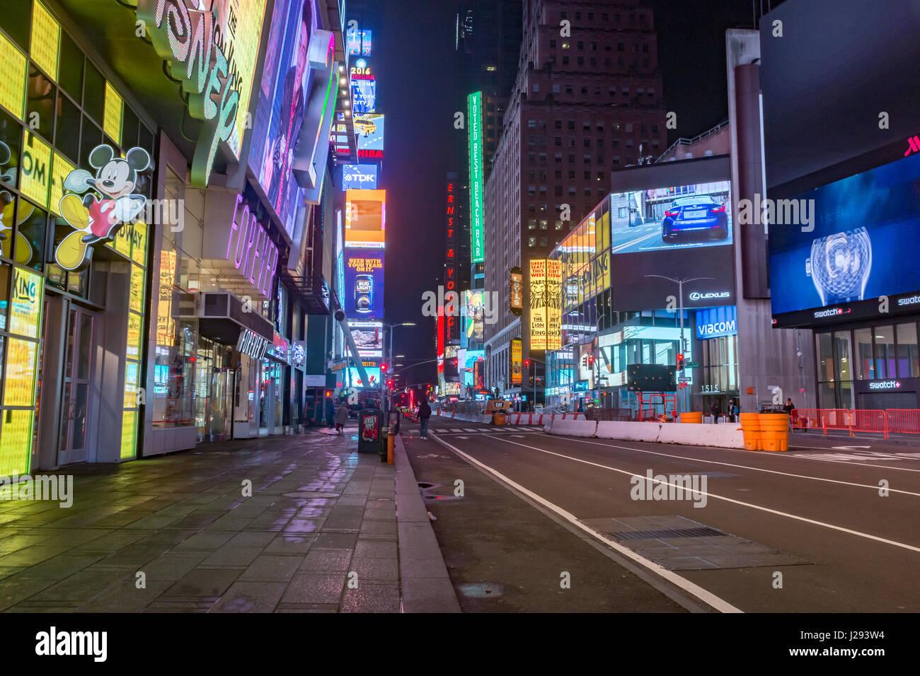 NY Times Square ohne Personen Stockbild