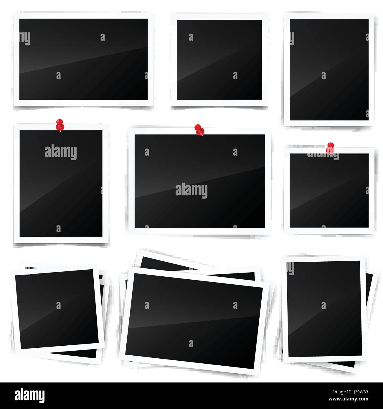 Fotokarte, Rahmen, Film-Set. Retro, Vintage Foto mit Schatten und ...