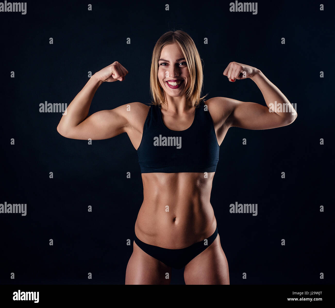 Muskulös frau Sportsucht: Wenn