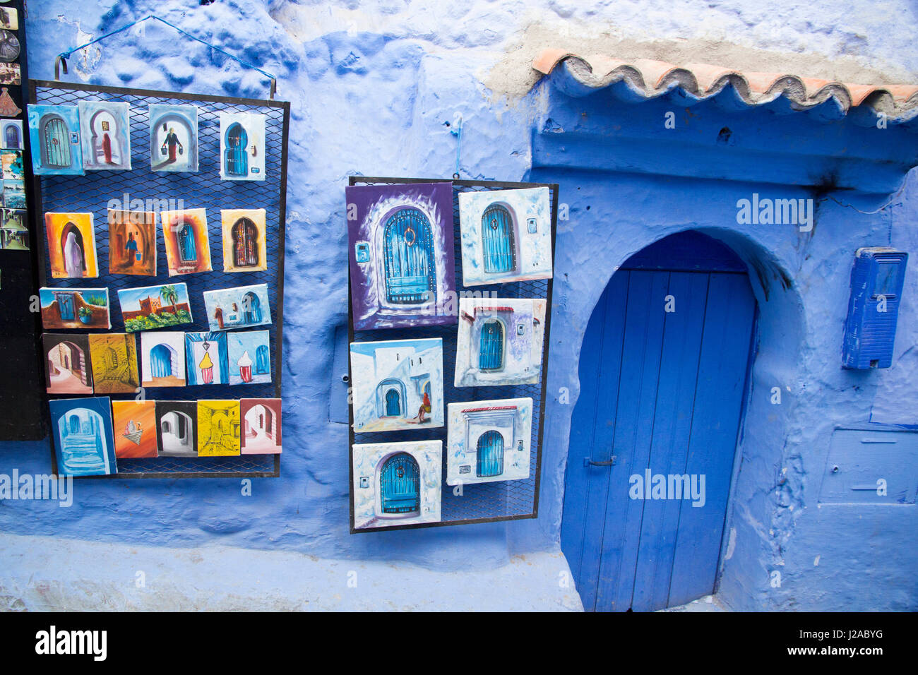 Bemalte Fliesen Zum Verkauf Im SouvenirShop In Der Kasbah - Mallorca fliesen shop