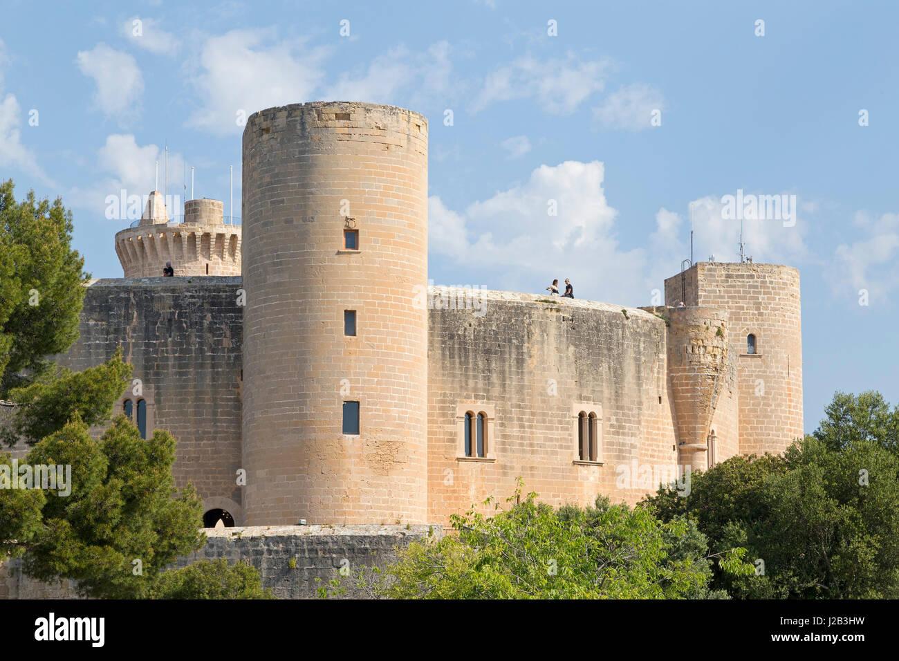Castell de Bellver in Palma De Mallorca, Spanien Stockbild