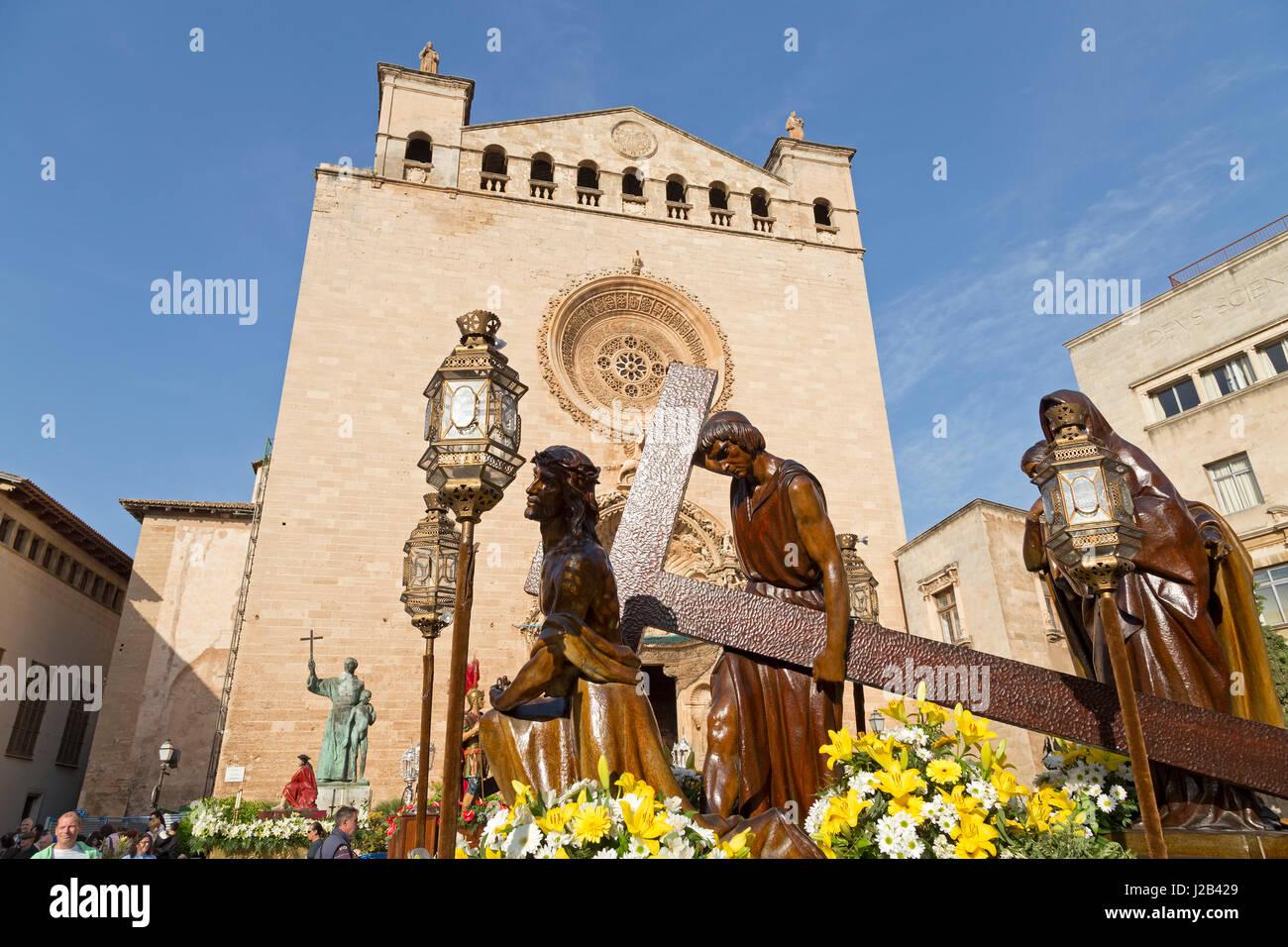 Basilika de Sant Francesc in Palma De Mallorca, Spanien Stockbild