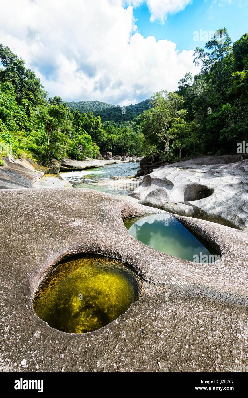 Babinda Boulders, a Scenic beliebte Touristenattraktion und Schwimmen vor Ort, in der Nähe von Cairns, Queensland, Stockbild