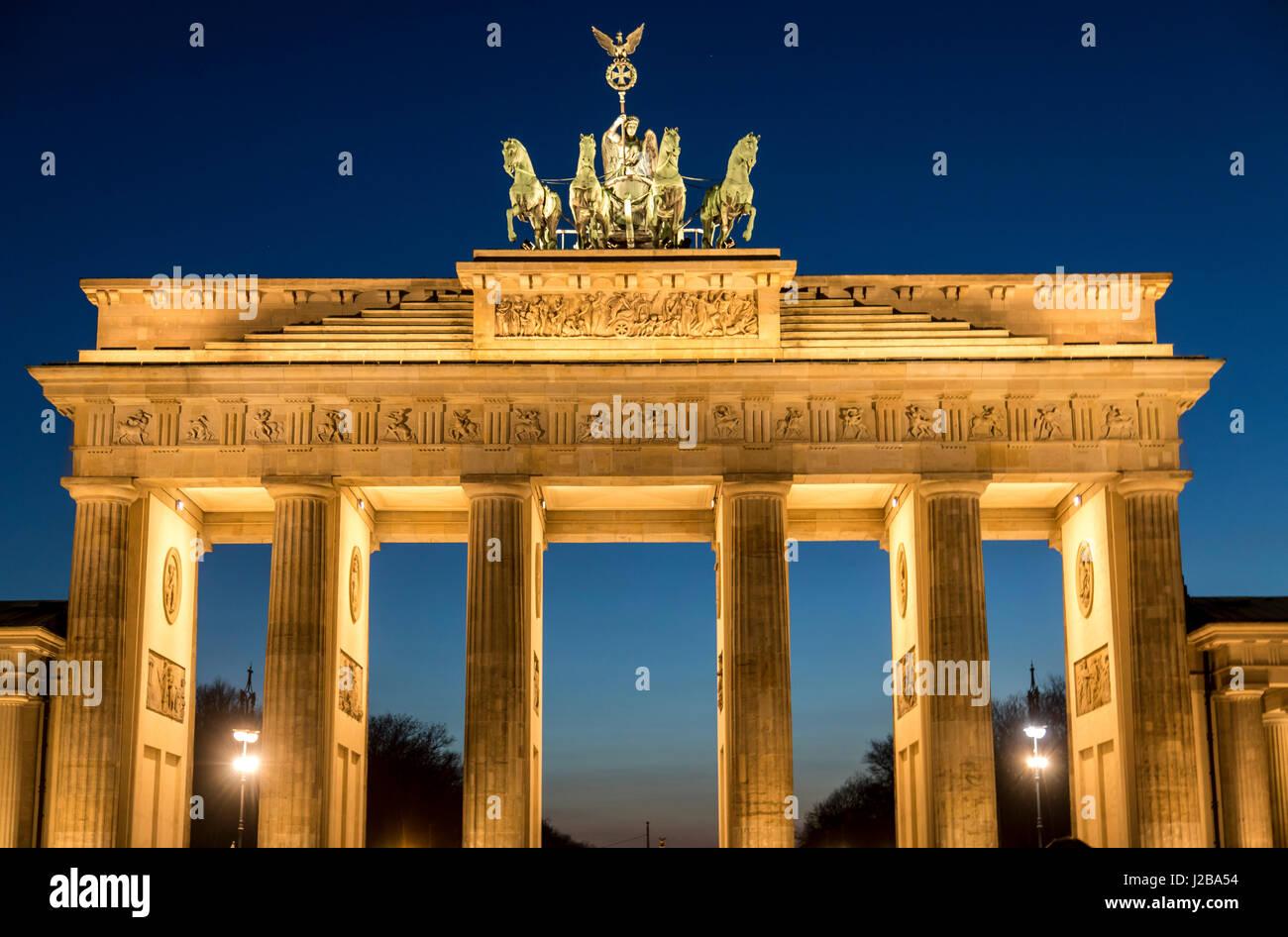 Das Brandenburger Tor in Berlin, Deutschland, Stockbild