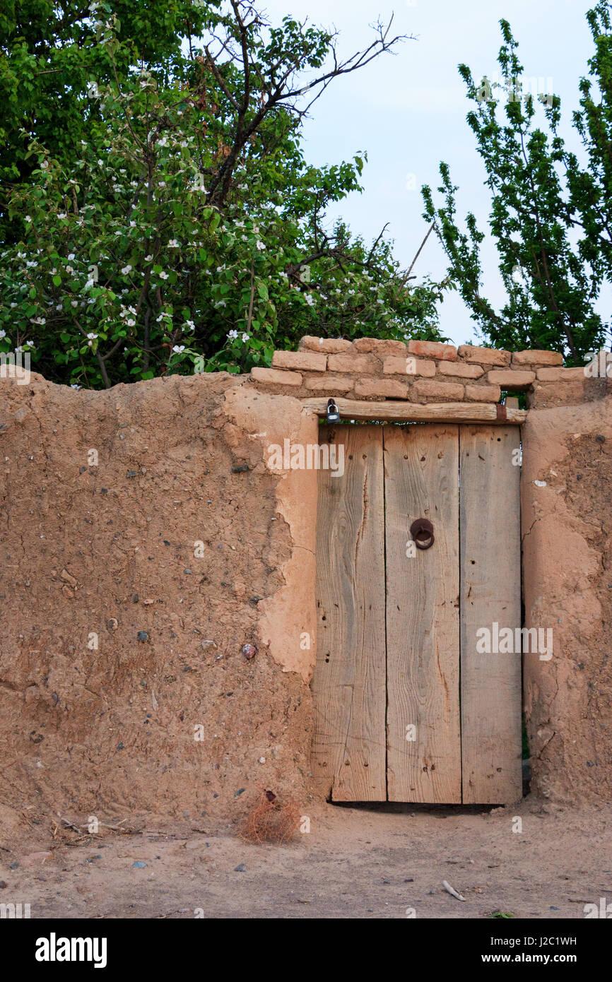 Eine Alte Tür Von Einem Persischen Garten Im Frühling