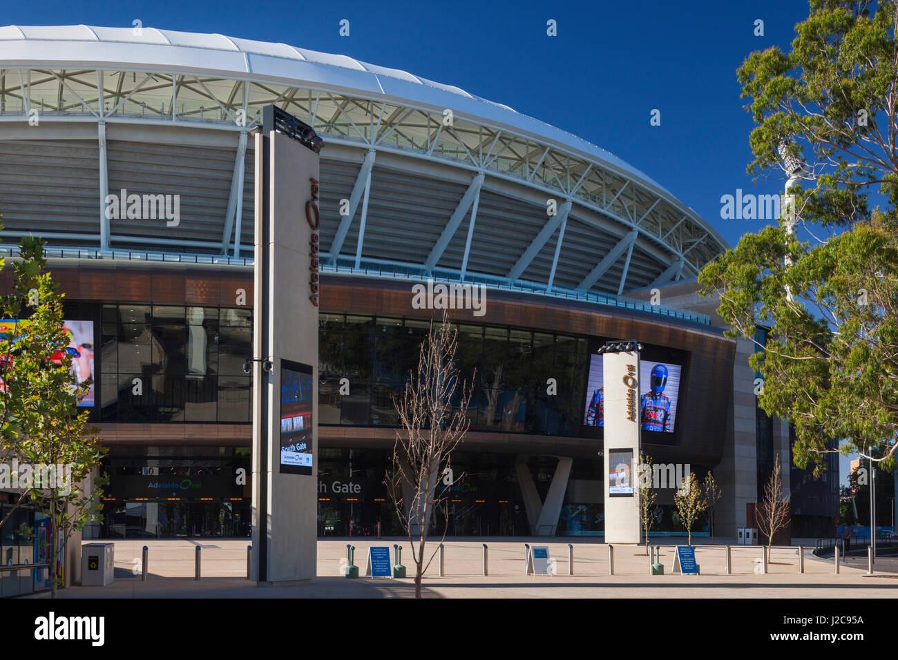 Australien, Adelaide, Adelaide Oval, Sportarena Stockbild