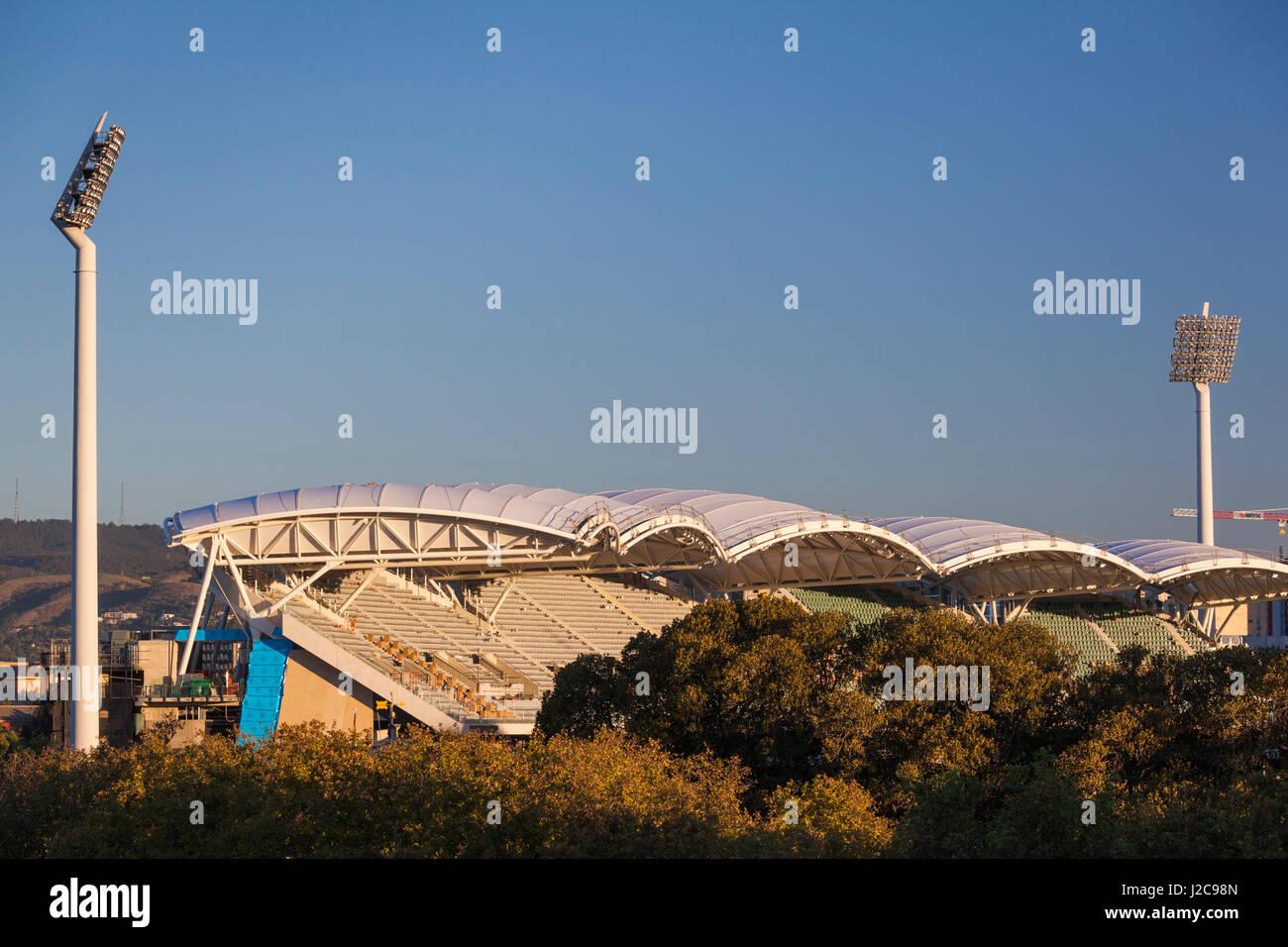 Australien, Adelaide, Adelaide Oval, erhöhten Blick Stockbild