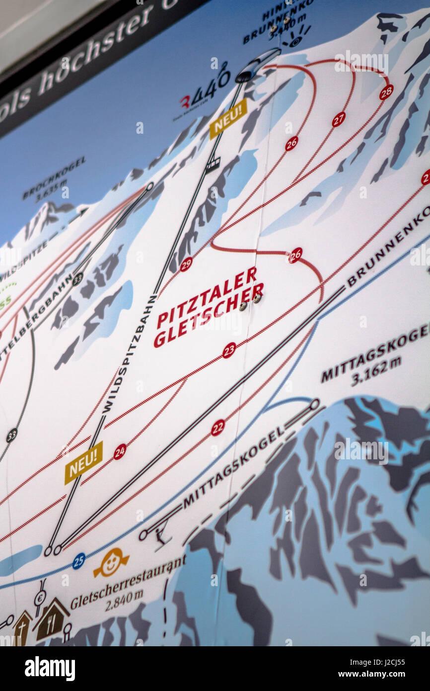 Pitztal Karte.österreich Tirol Imst Ski Freizeit In Sankt Leonhard Im Pitztal