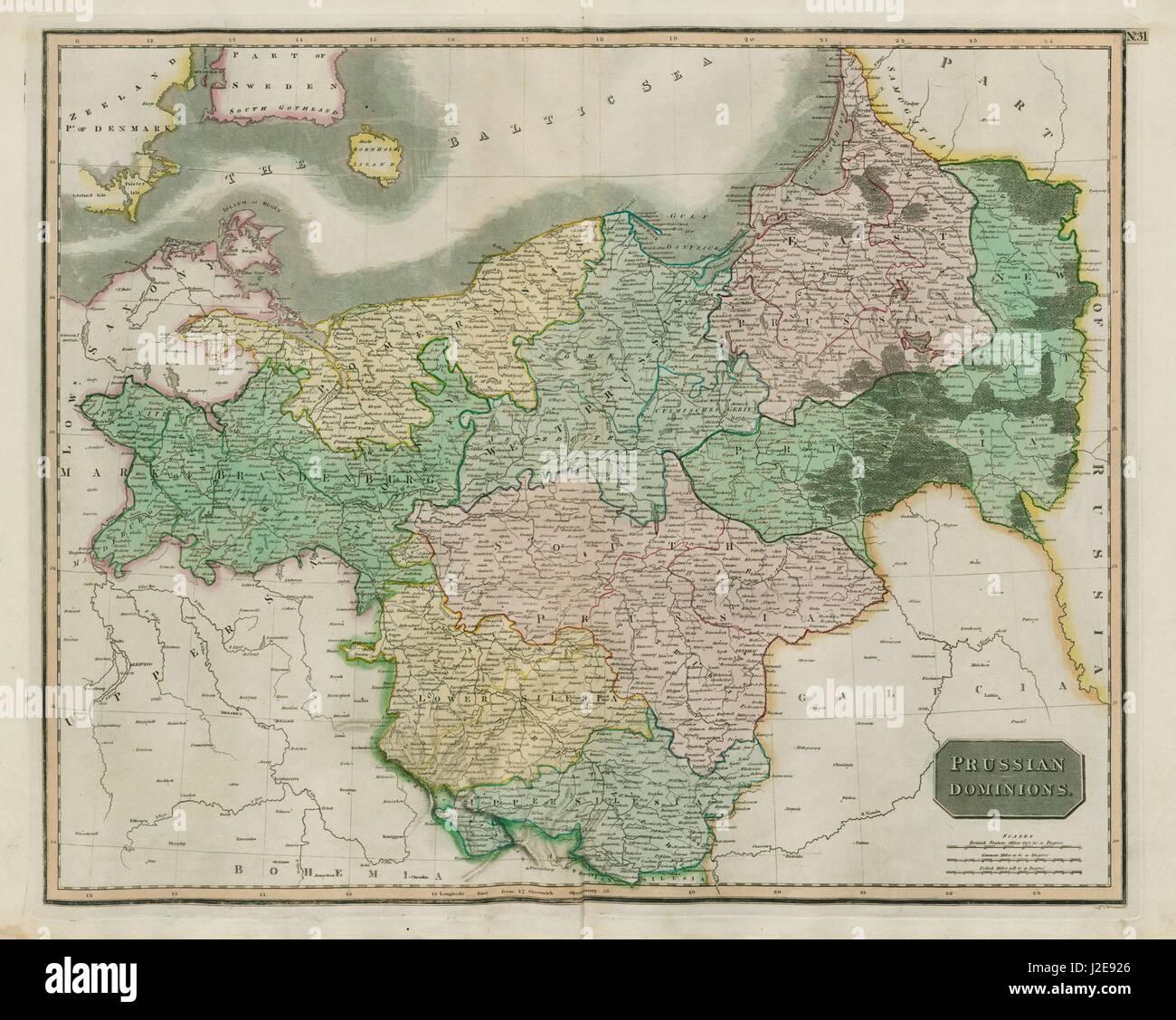 Polen Schlesien Karte.Preußischen Herrschaften Polen Schlesien Brandenburg Pommern