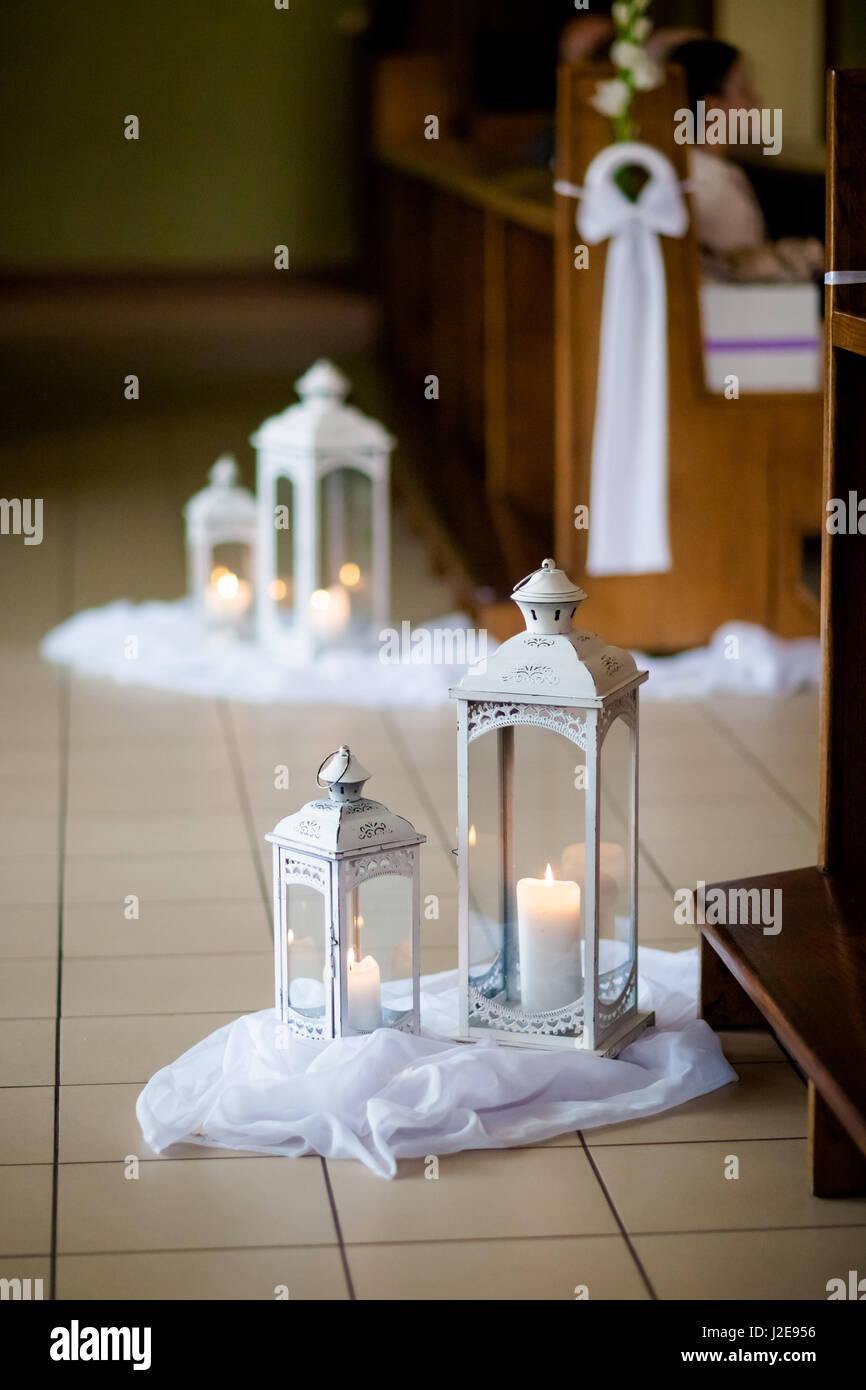 Christlichen Detaillierte Kirche Dekoration Fur Hochzeit Trauung